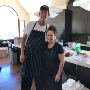 Cooking with Iron Chef Stephanie Izard in Aspen 2017